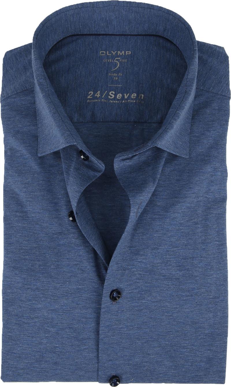 OLYMP Lvl 5 Overhemd 24/Seven Rook Blauw