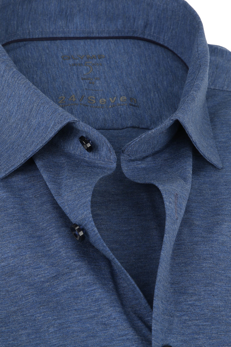 OLYMP Lvl 5 Overhemd 24/Seven Rook Blauw foto 1