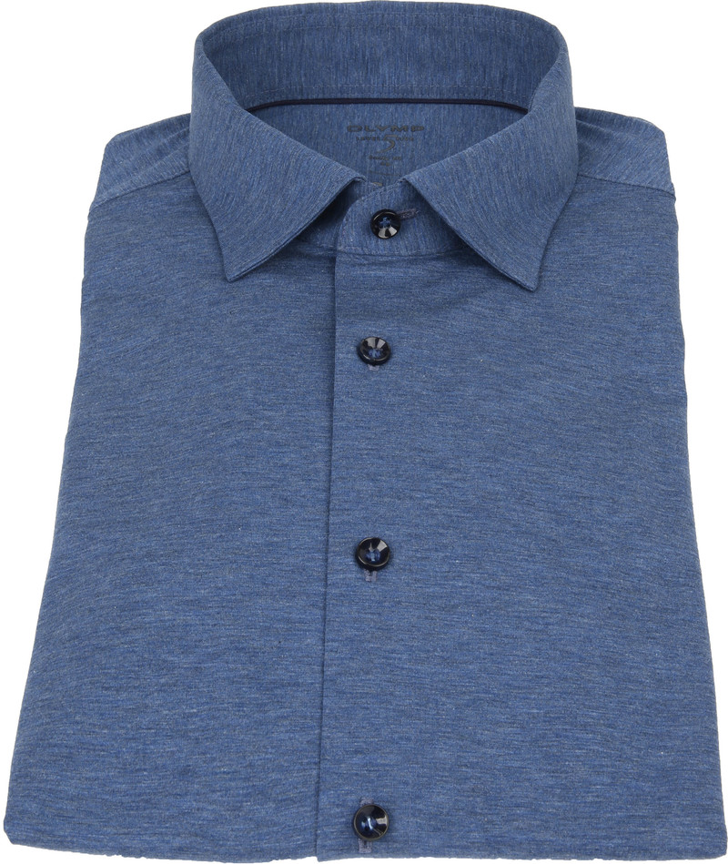 OLYMP Lvl 5 Overhemd 24/Seven Rook Blauw foto 2