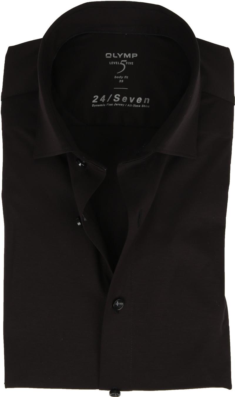OLYMP Lvl 5 Overhemd 24/Seven Zwart foto 0