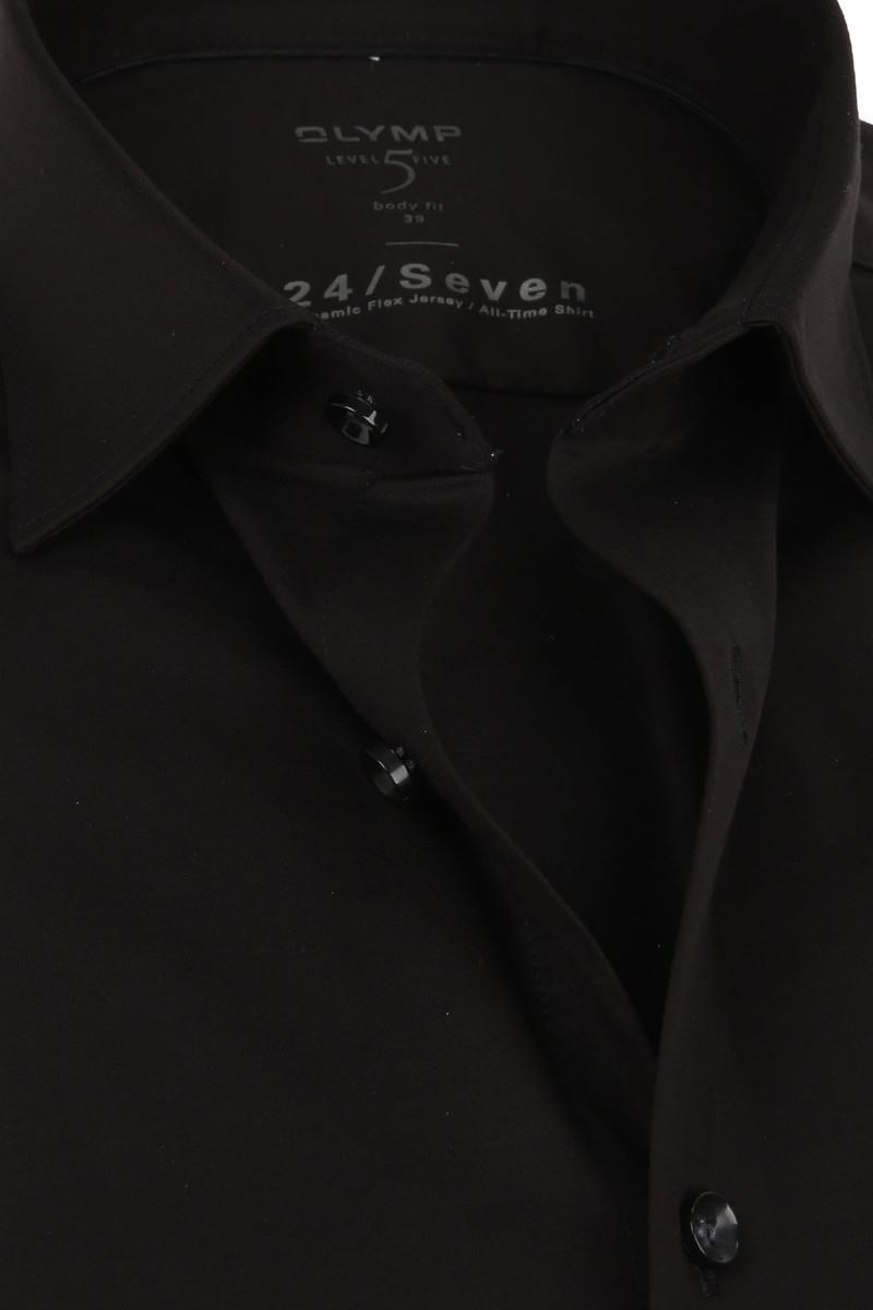 OLYMP Lvl 5 Overhemd 24/Seven Zwart foto 1