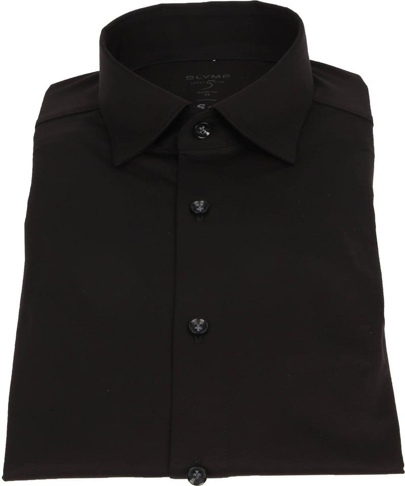 OLYMP Lvl 5 Overhemd 24/Seven Zwart foto 2