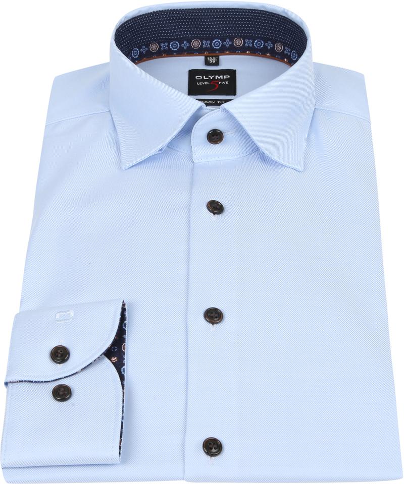 OLYMP Lvl 5 Overhemd Lichtblauw foto 2