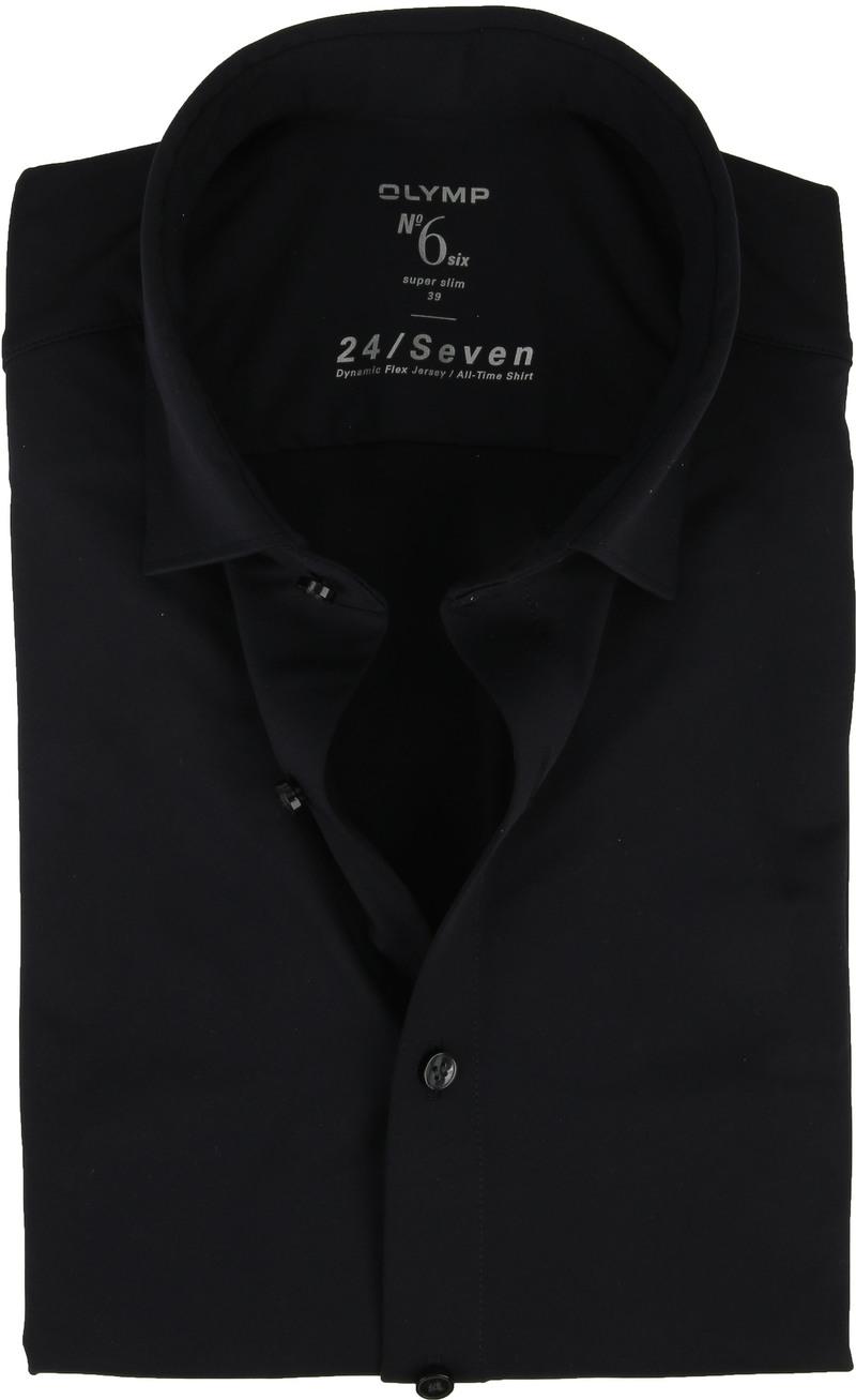 OLYMP No'6 Overhemd 24/Seven Navy