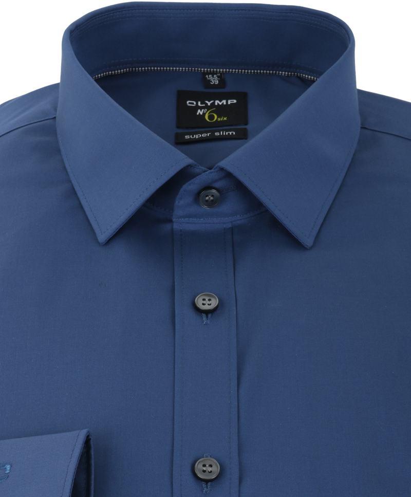 OLYMP No'6 six Overhemd Skinny Fit Donkerblauw - Donkerblauw maat 40