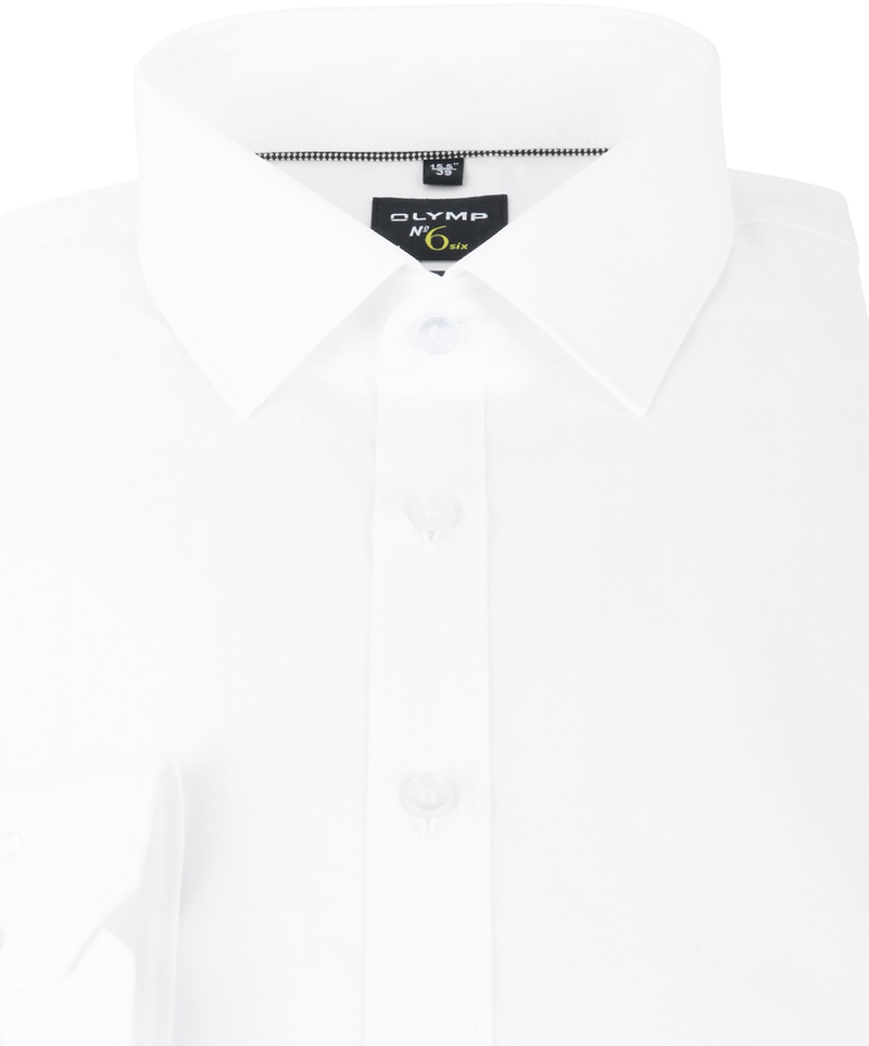 OLYMP No'6 six Skinny Fit Overhemd Wit - Wit maat 38