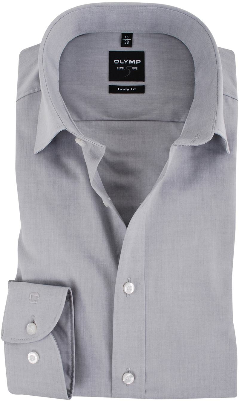 OLYMP Overhemd Body-Fit Grijs