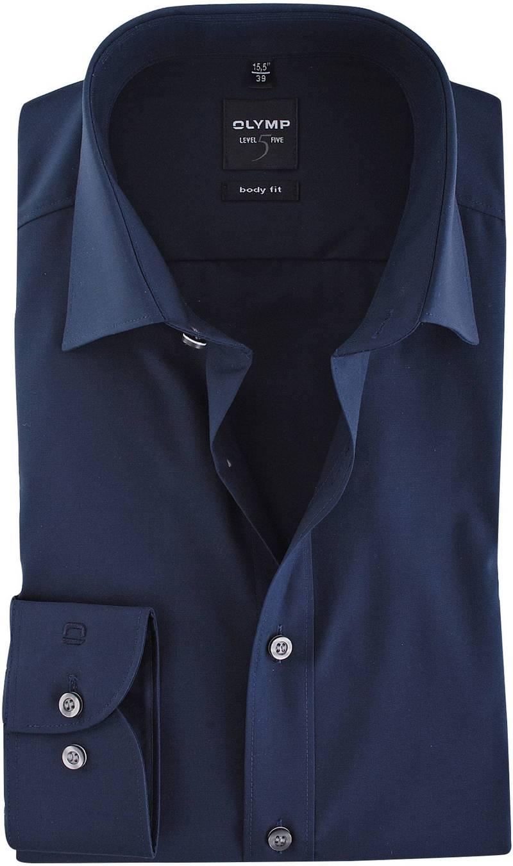 Olymp Overhemd Body Fit Navy foto 0