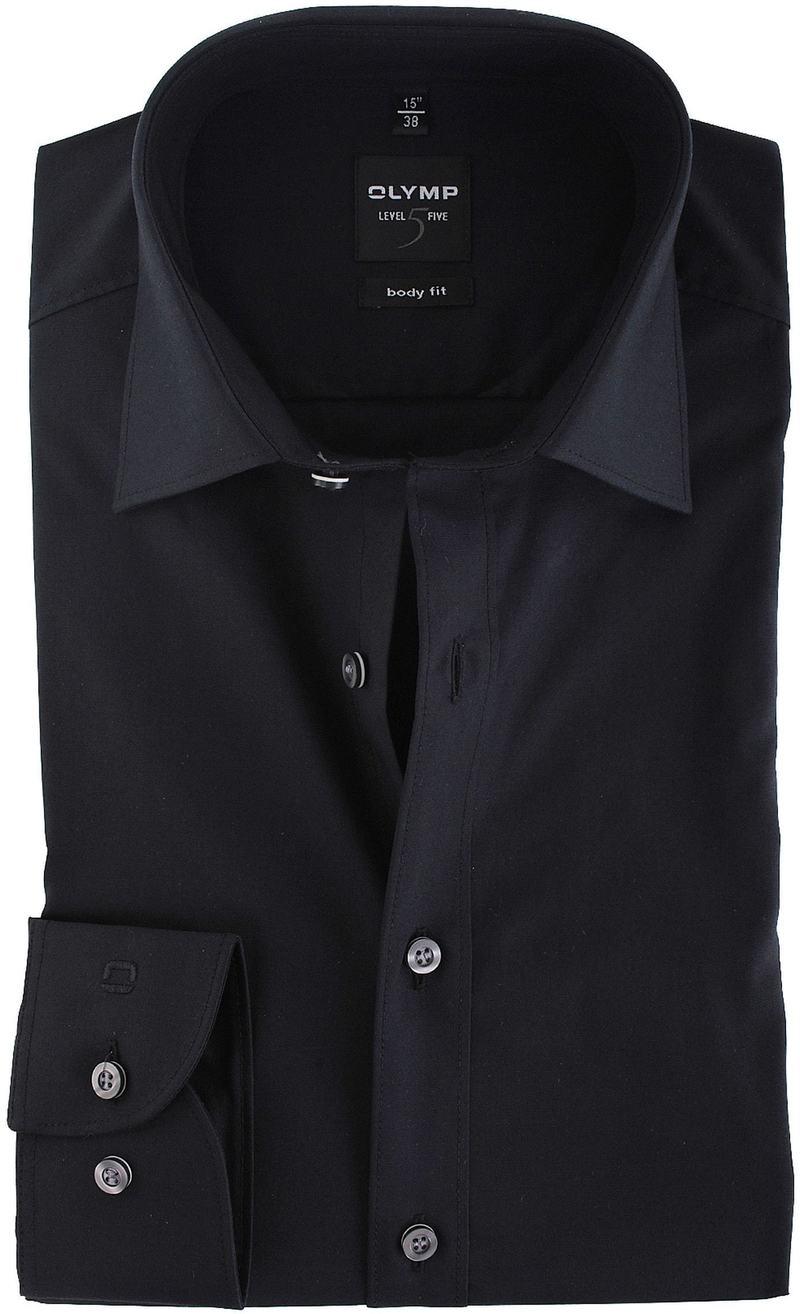 Olymp Overhemd Body-Fit Zwart