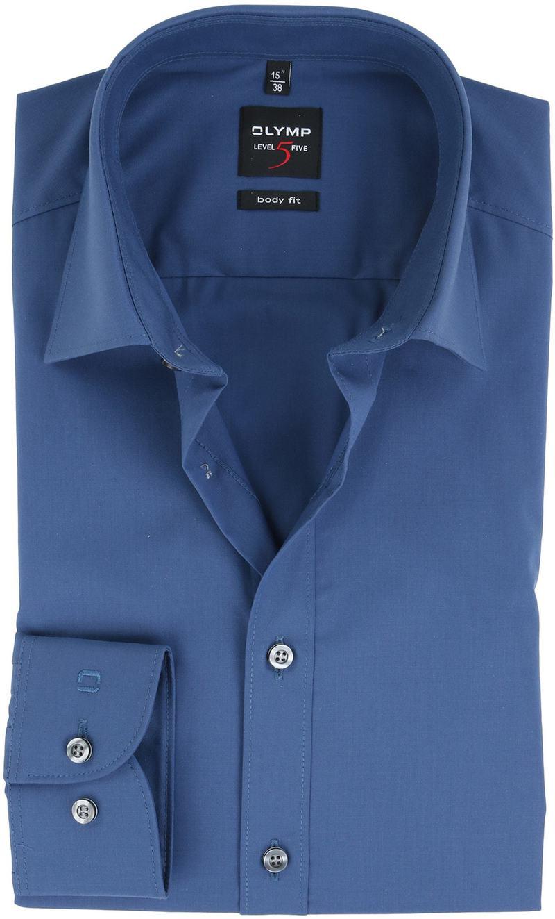 OLYMP Overhemd Donkerblauw Body Fit - Donkerblauw maat 38