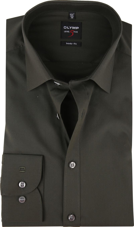 OLYMP Overhemd Donkergroen Body Fit foto 0
