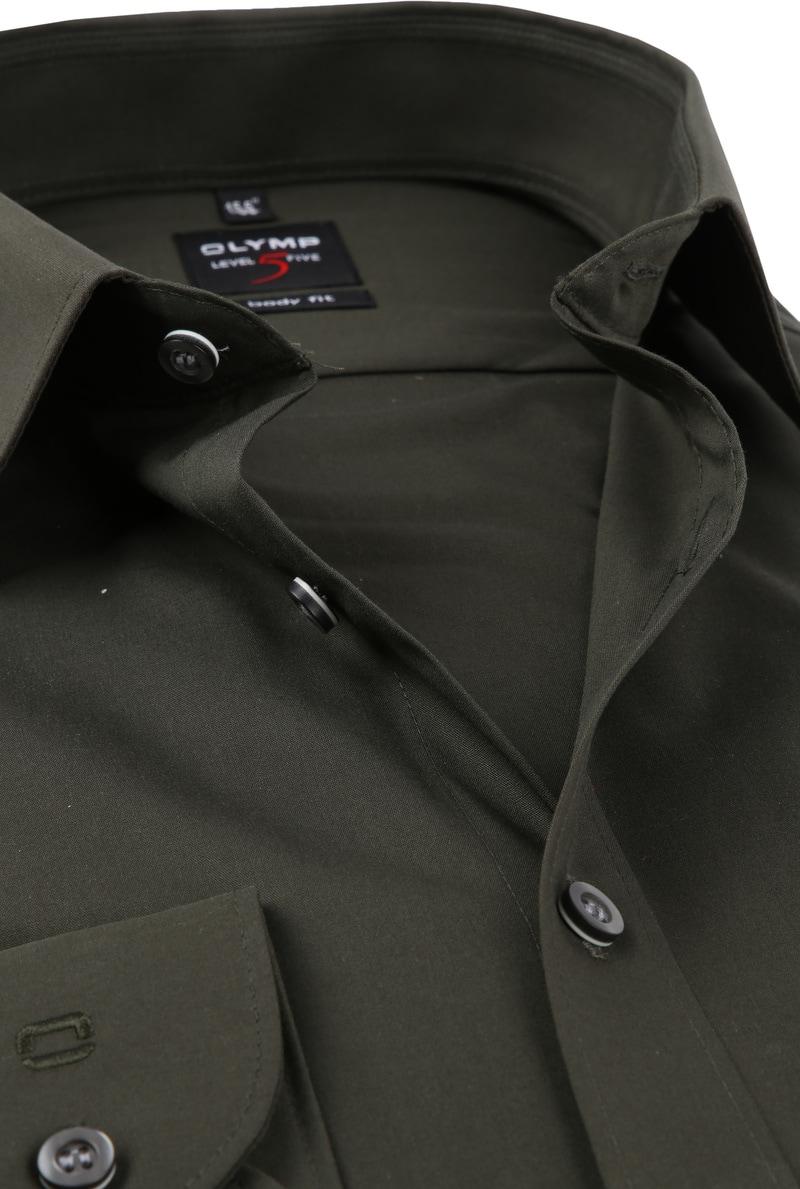 OLYMP Overhemd Donkergroen Body Fit foto 1