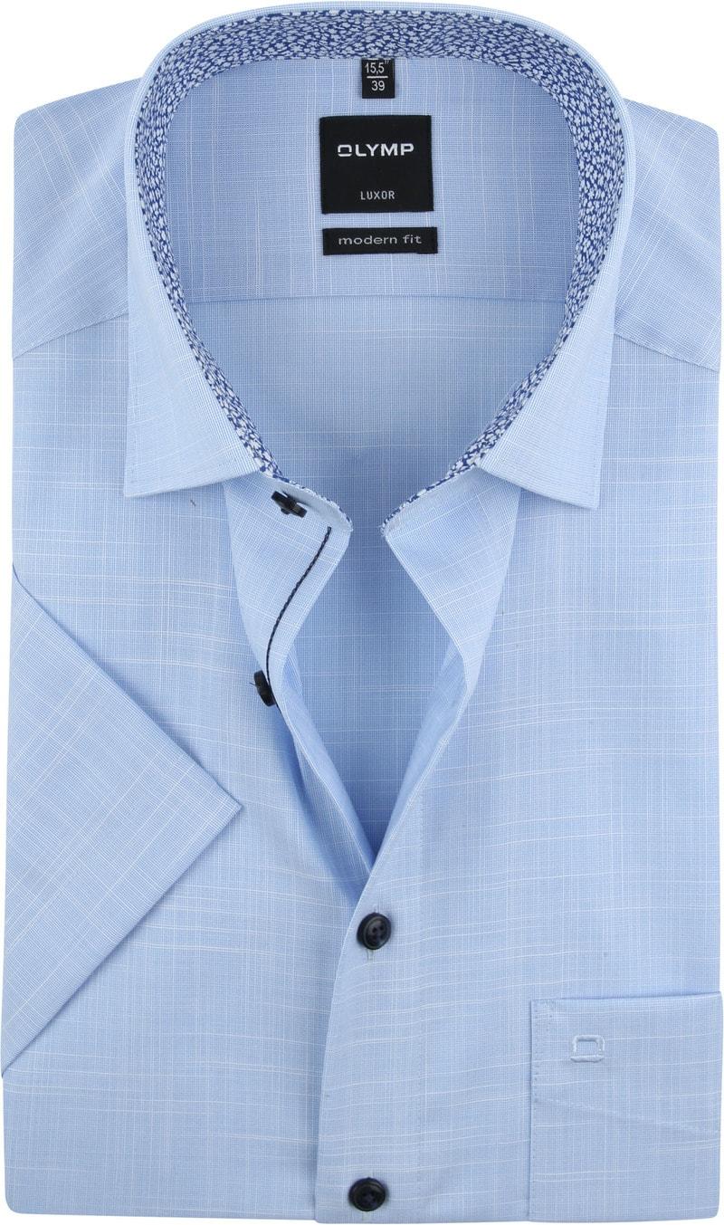 OLYMP Overhemd Korte Mouwen Blauw foto 0