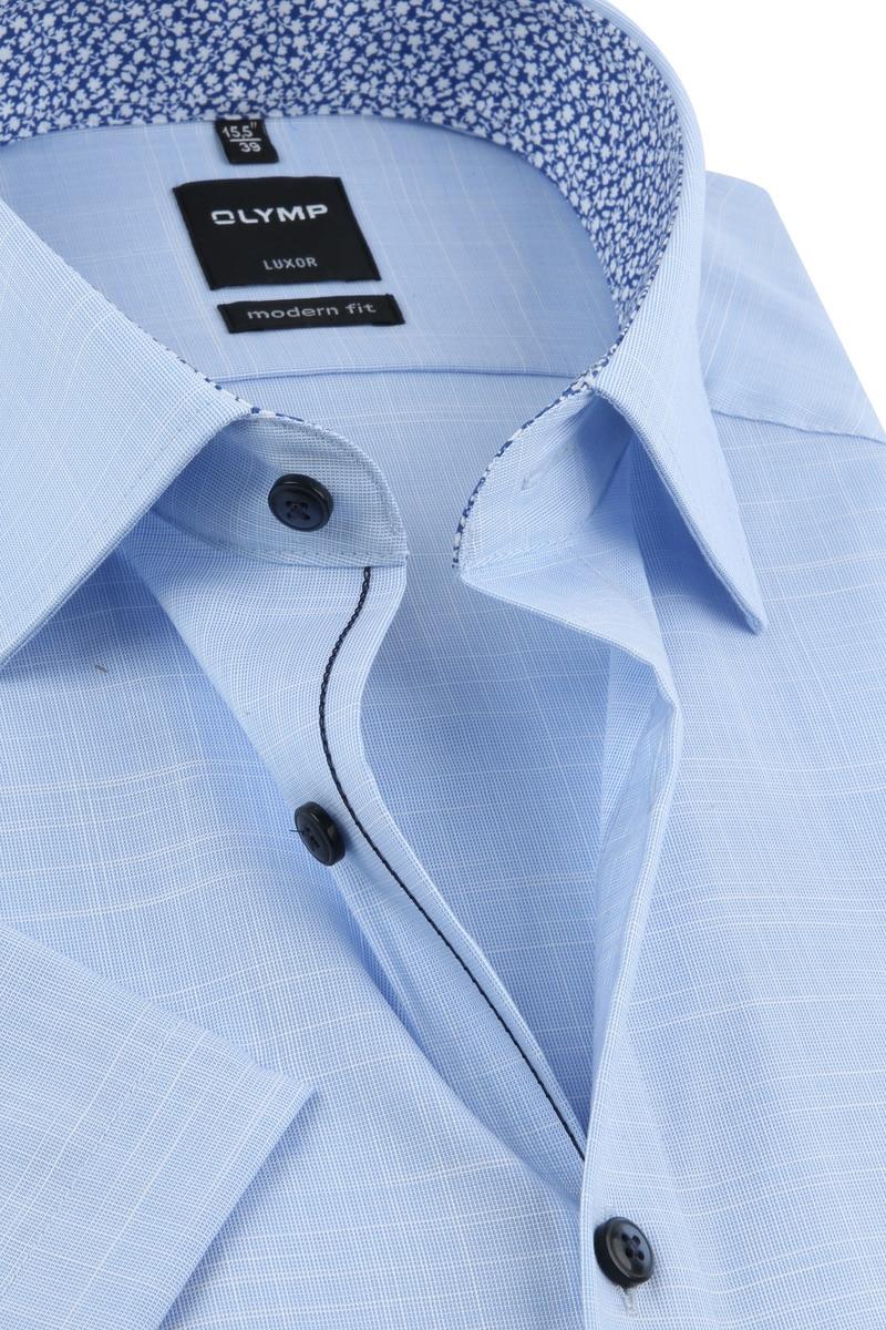 OLYMP Overhemd Korte Mouwen Blauw foto 1