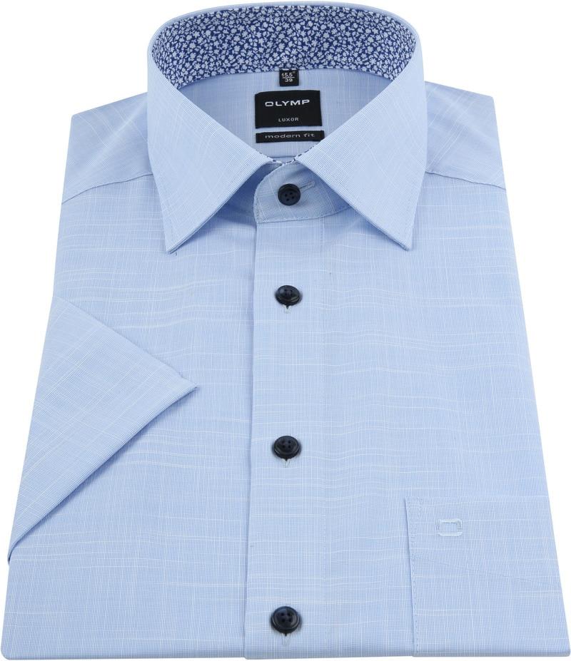 OLYMP Overhemd Korte Mouwen Blauw foto 2