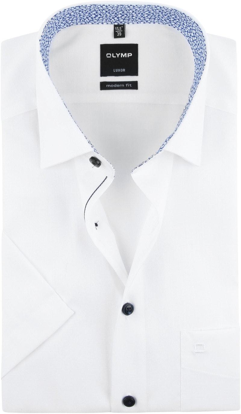 OLYMP Overhemd Korte Mouwen Wit foto 0