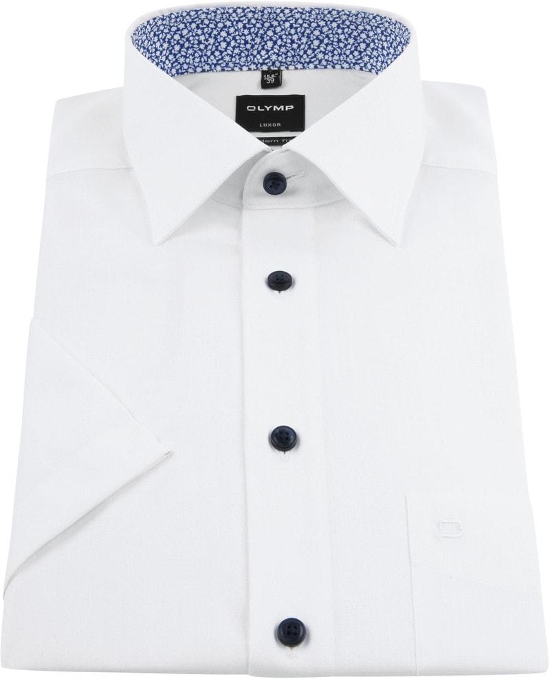 OLYMP Overhemd Korte Mouwen Wit foto 2