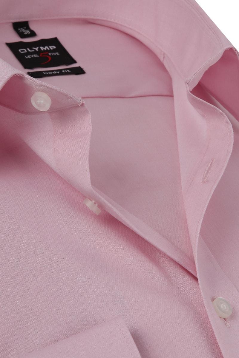 OLYMP Overhemd Level 5 BF Roze  - Roze maat 43
