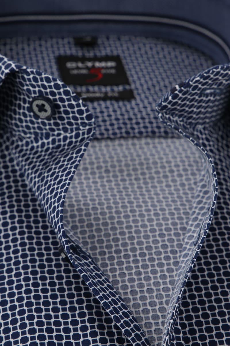 OLYMP Overhemd Level 5 Blauw Dessin WS foto 1