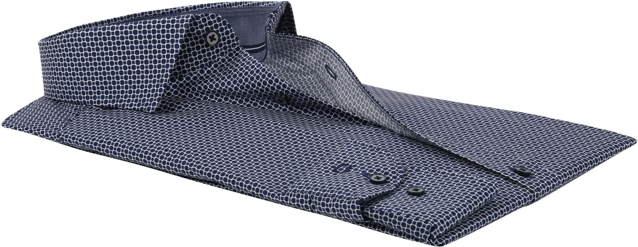 OLYMP Overhemd Level 5 Blauw Dessin WS foto 3