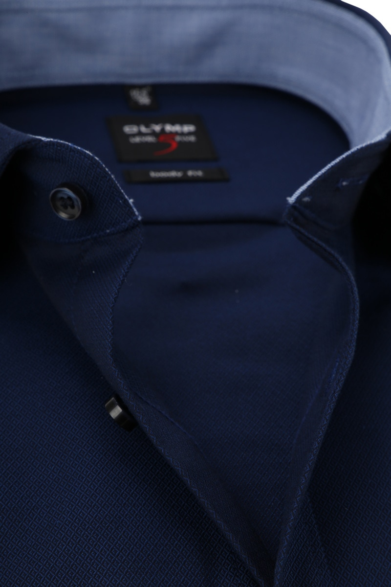 OLYMP Overhemd Level 5 Blauw Ruit foto 1