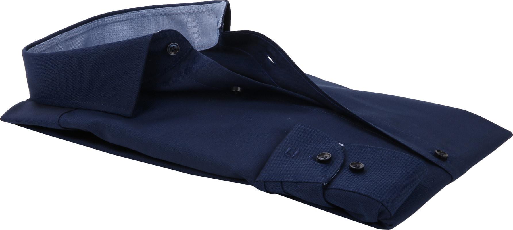 OLYMP Overhemd Level 5 Blauw Ruit foto 3
