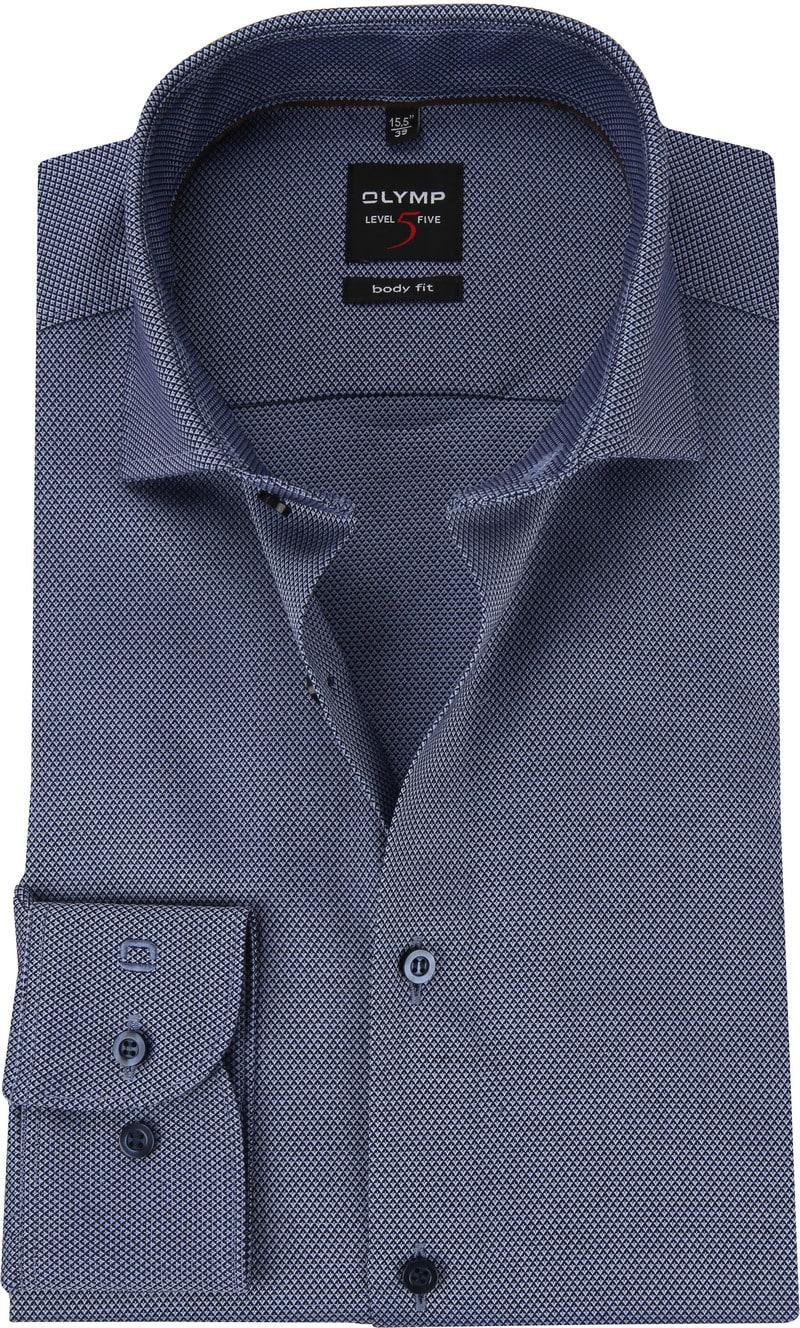 OLYMP Overhemd Level 5 Blauw WS foto 0