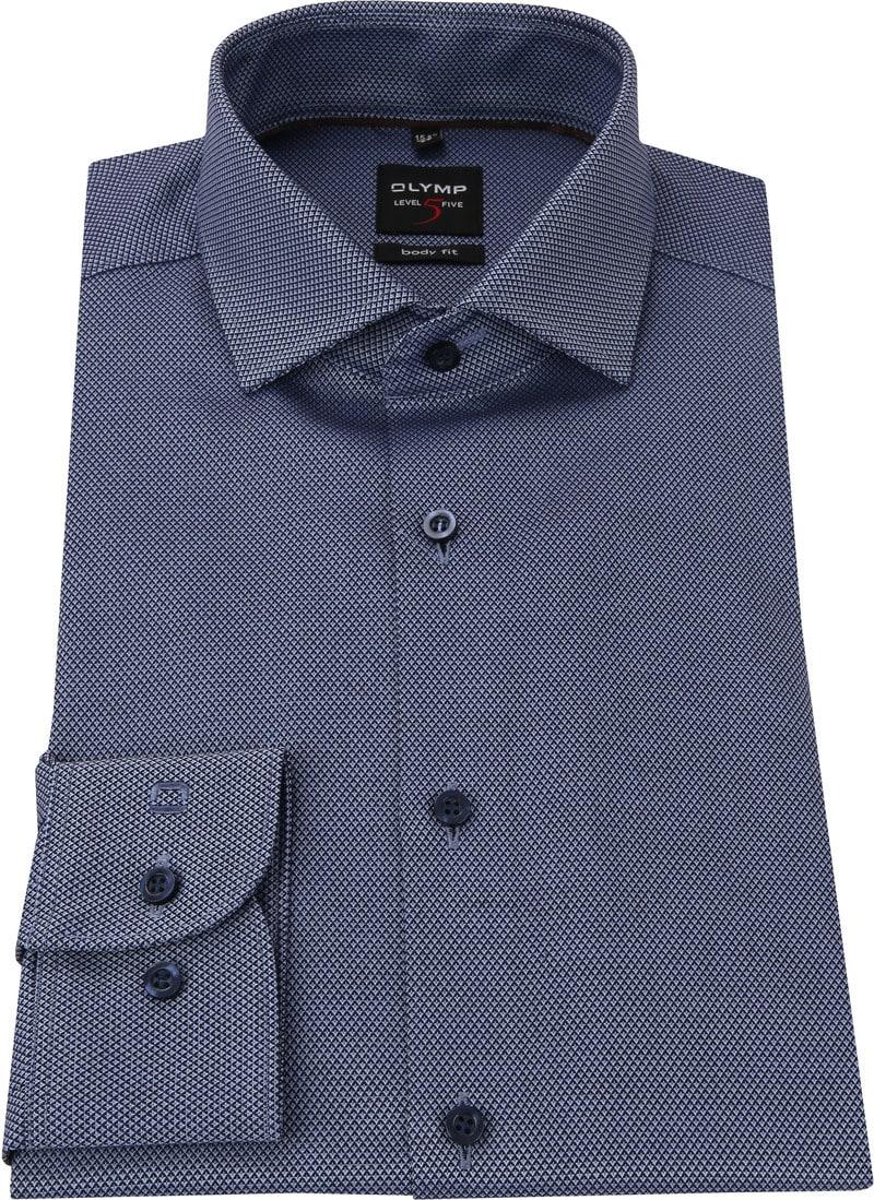 OLYMP Overhemd Level 5 Blauw WS foto 2