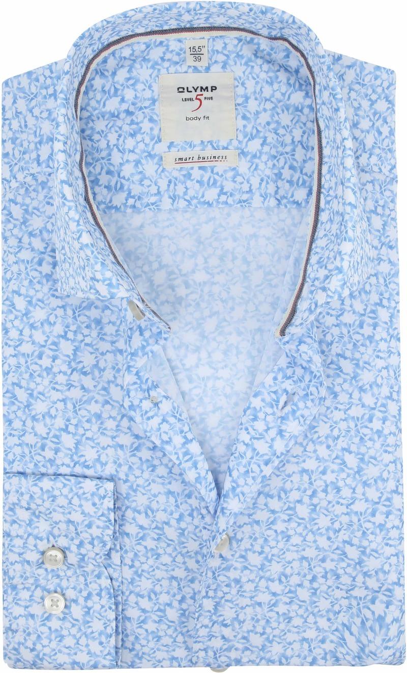 OLYMP Overhemd Level 5 Bloemen Blauw foto 0