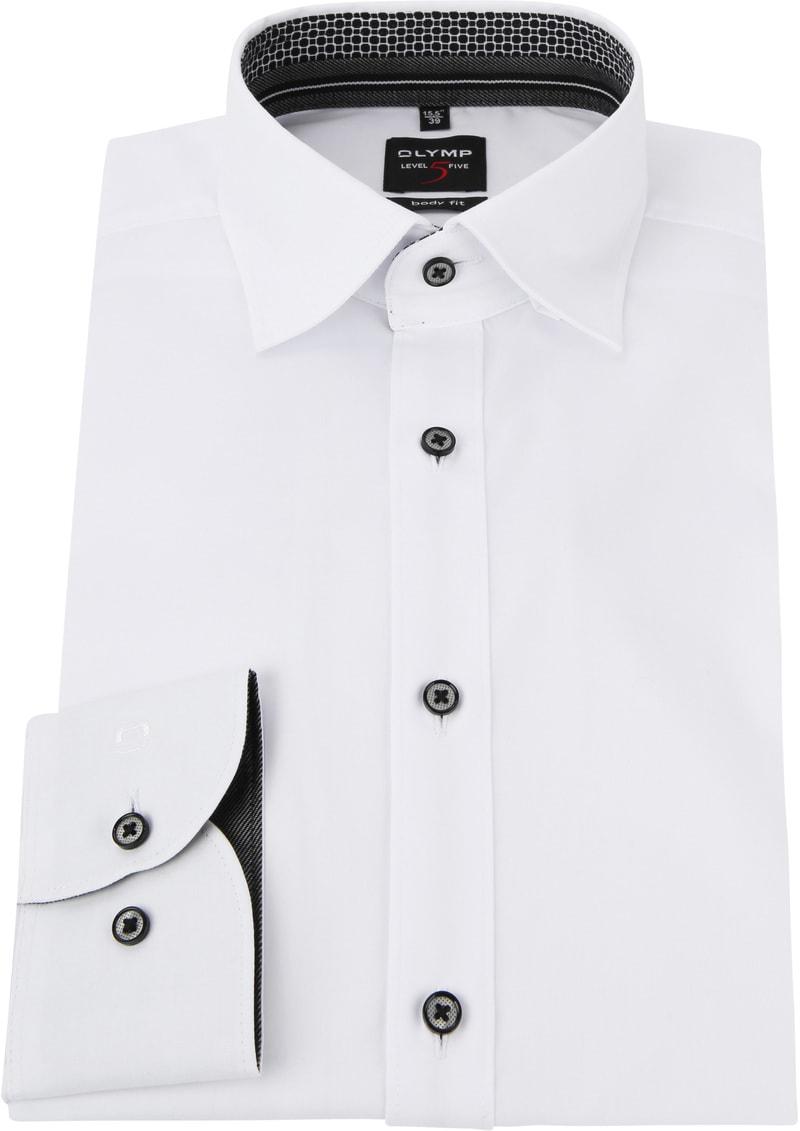 OLYMP Overhemd Level 5 HBD Wit foto 2