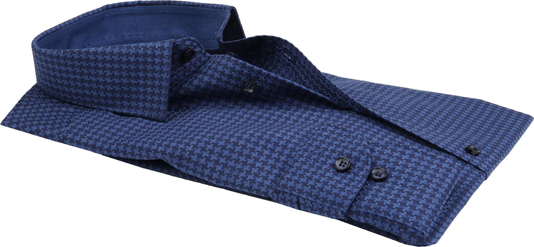 OLYMP Overhemd Level 5 Pied De Poule - Donkerblauw maat 40
