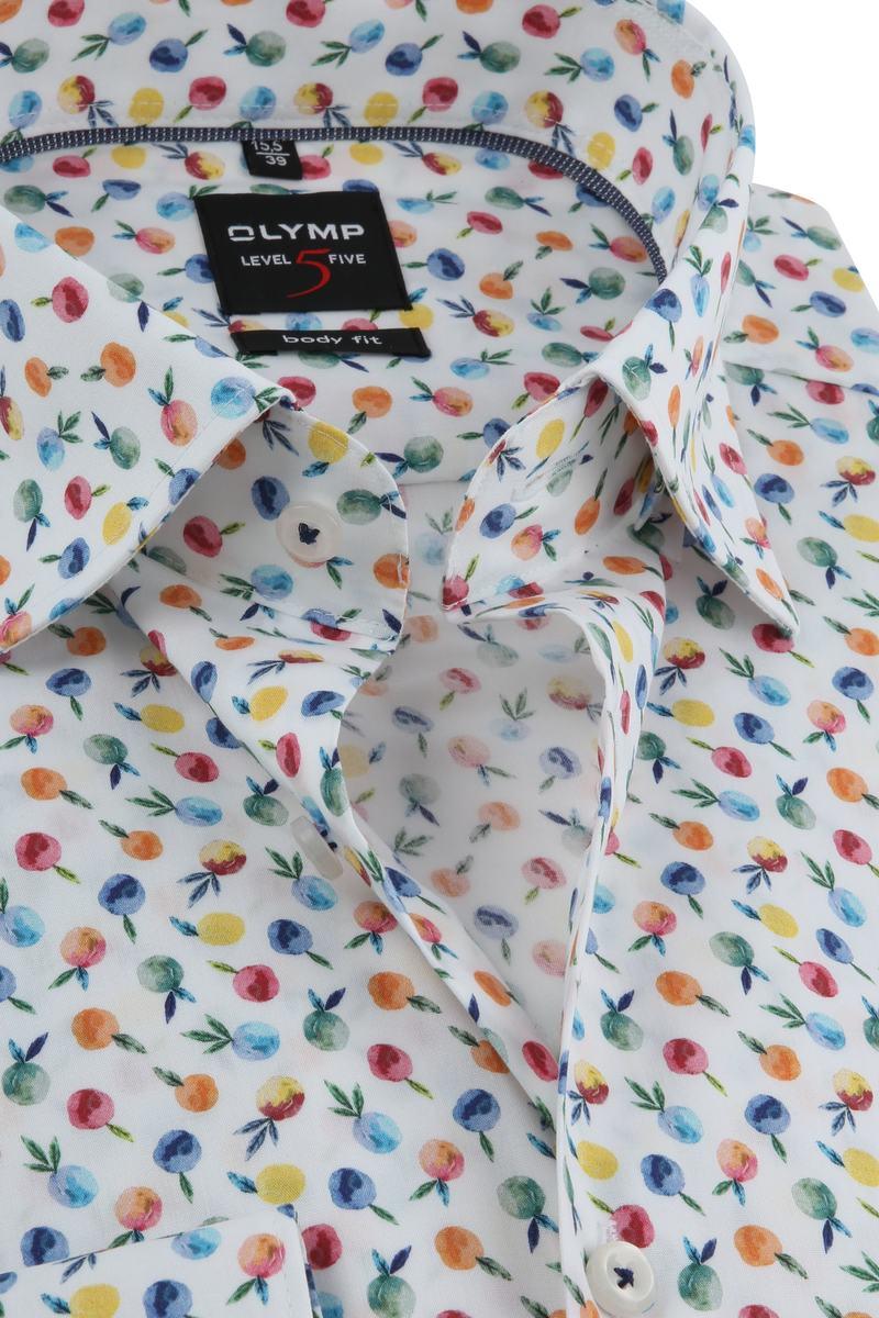 OLYMP Overhemd Level 5 Print foto 1