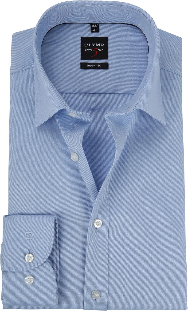 OLYMP Overhemd Level 5 Twill Blauw foto 0