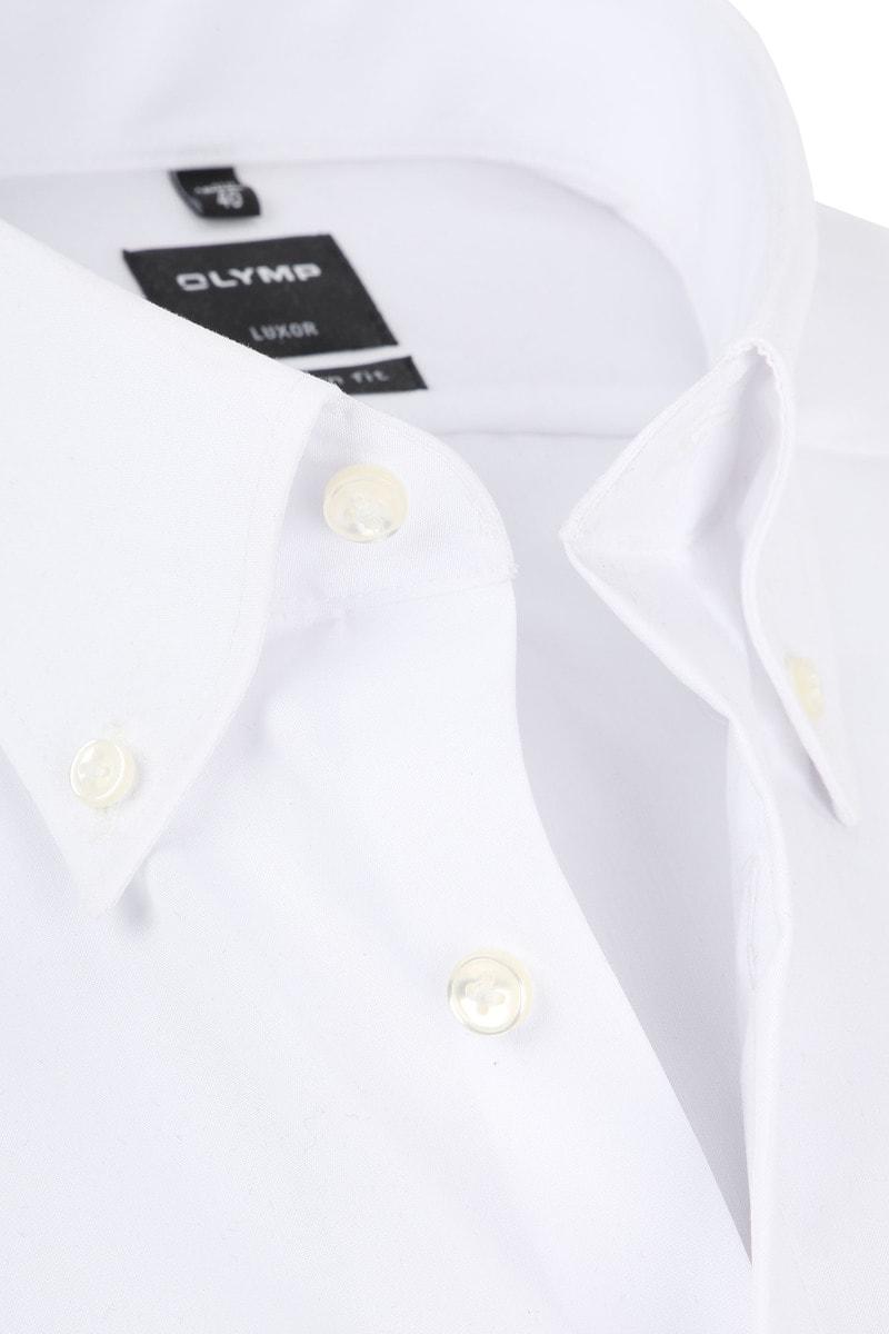 OLYMP Overhemd Luxor Wit Korte Mouw - Wit maat 38