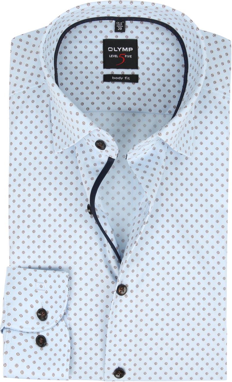 OLYMP Overhemd Lvl 5 Dessin Blauw foto 0
