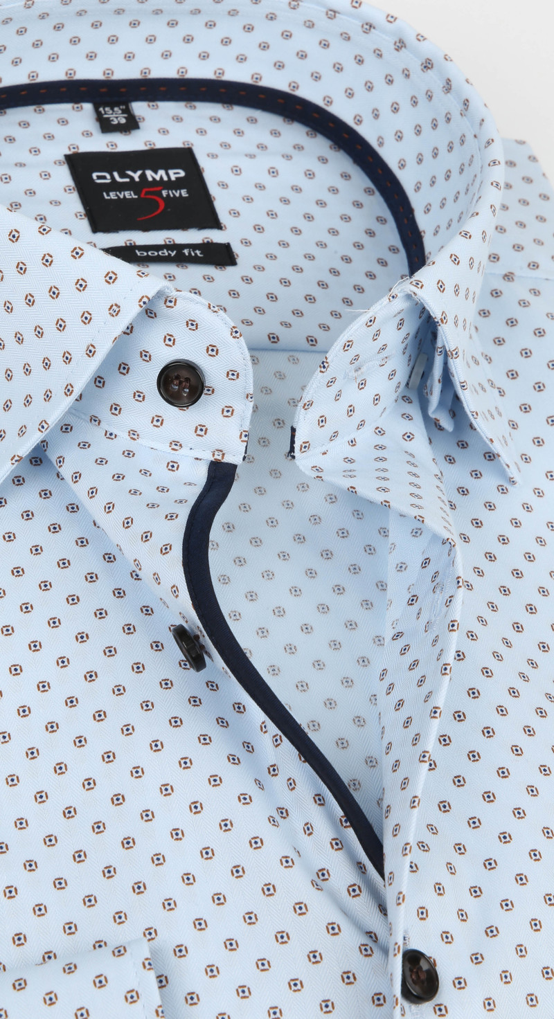 OLYMP Overhemd Lvl 5 Dessin Blauw foto 1