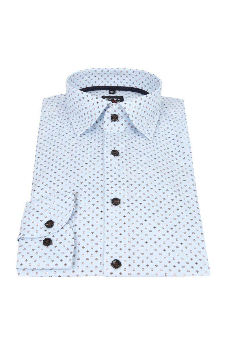 OLYMP Overhemd Lvl 5 Dessin Blauw foto 2