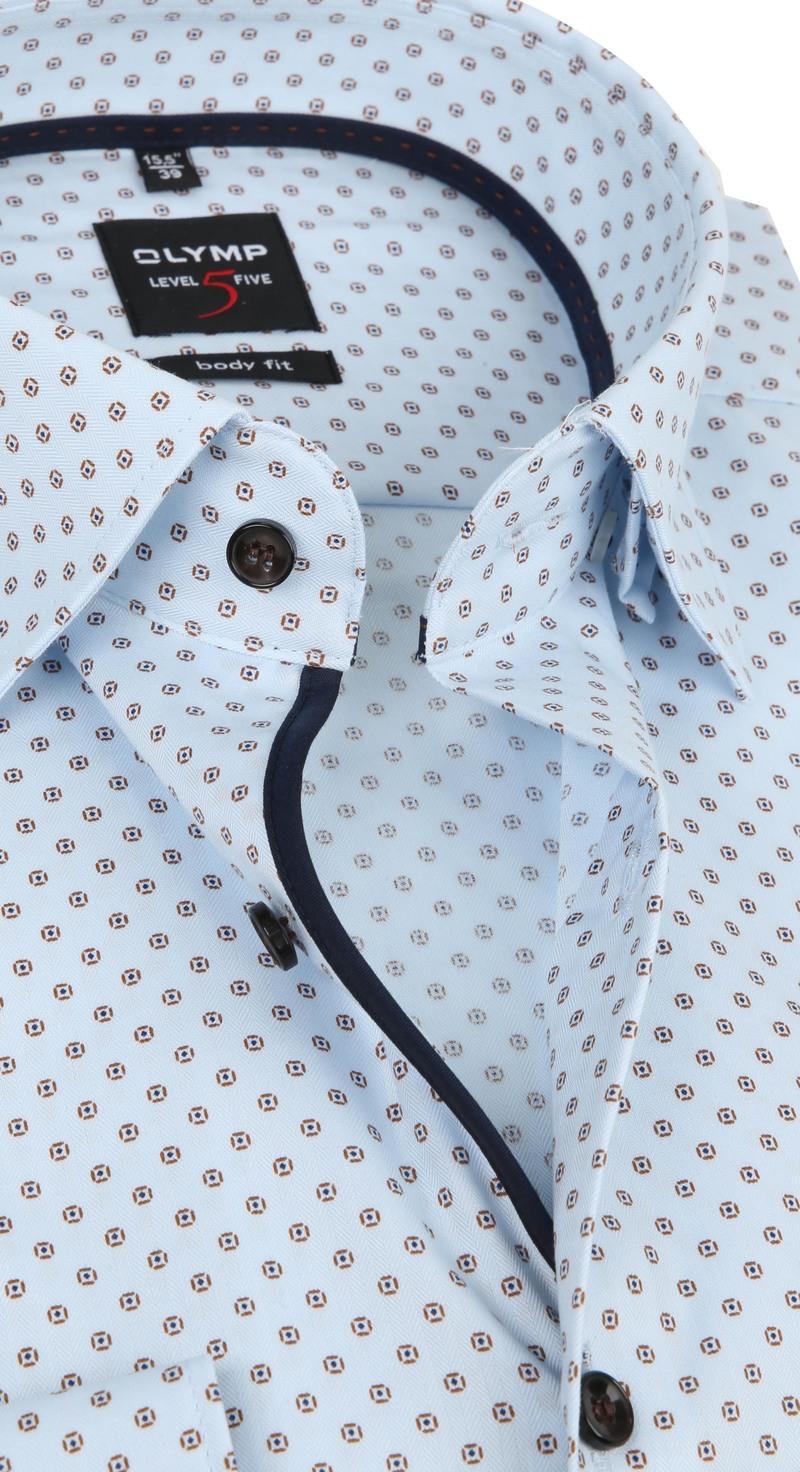 OLYMP Overhemd Lvl 5 Dessin Blauw foto 4