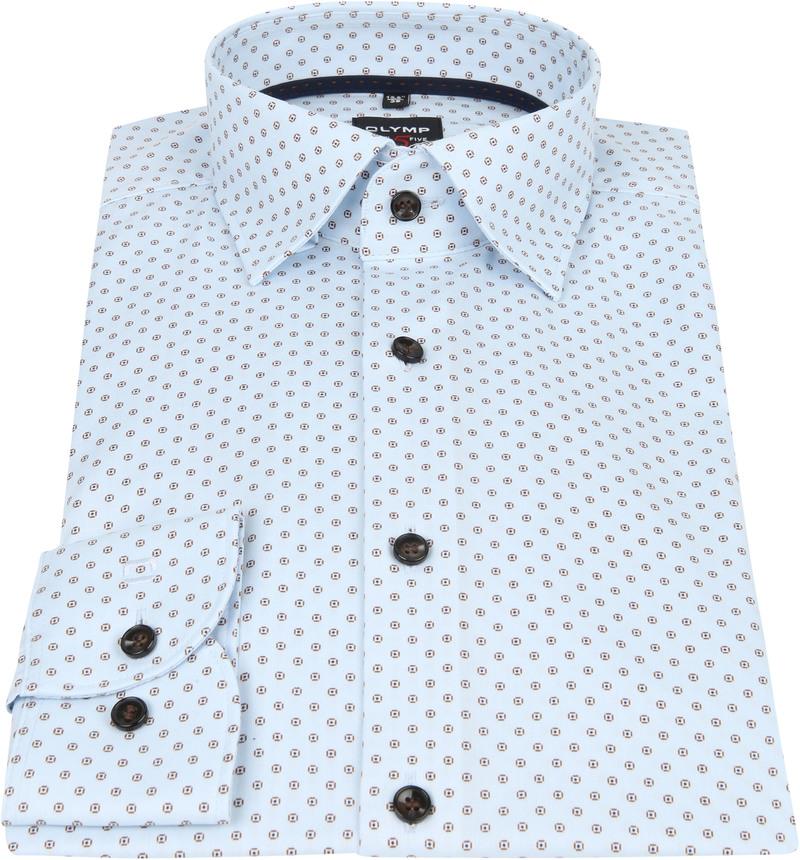 OLYMP Overhemd Lvl 5 Dessin Blauw foto 5