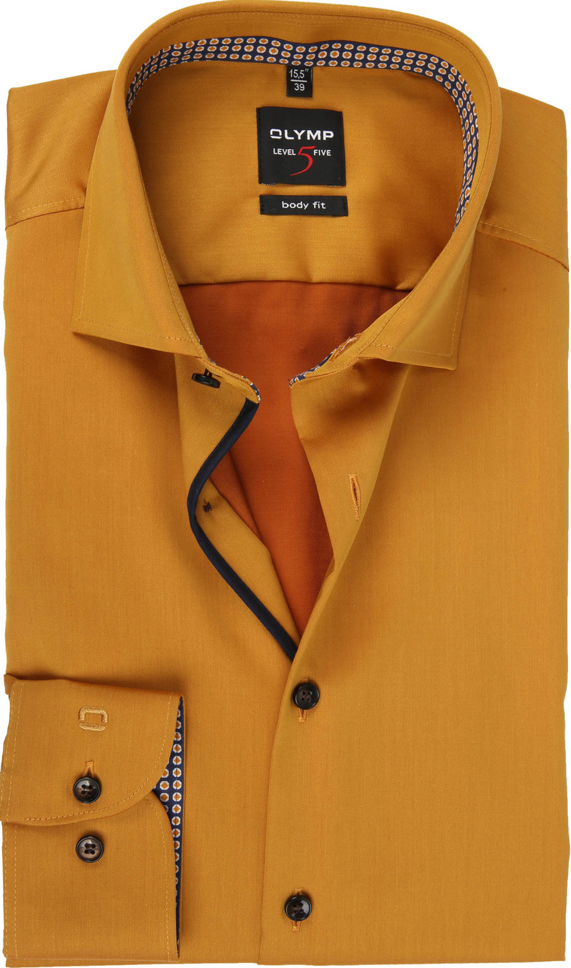 OLYMP Overhemd Lvl 5 Geel foto 0
