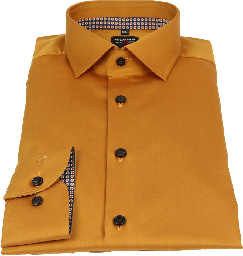 OLYMP Overhemd Lvl 5 Geel foto 2