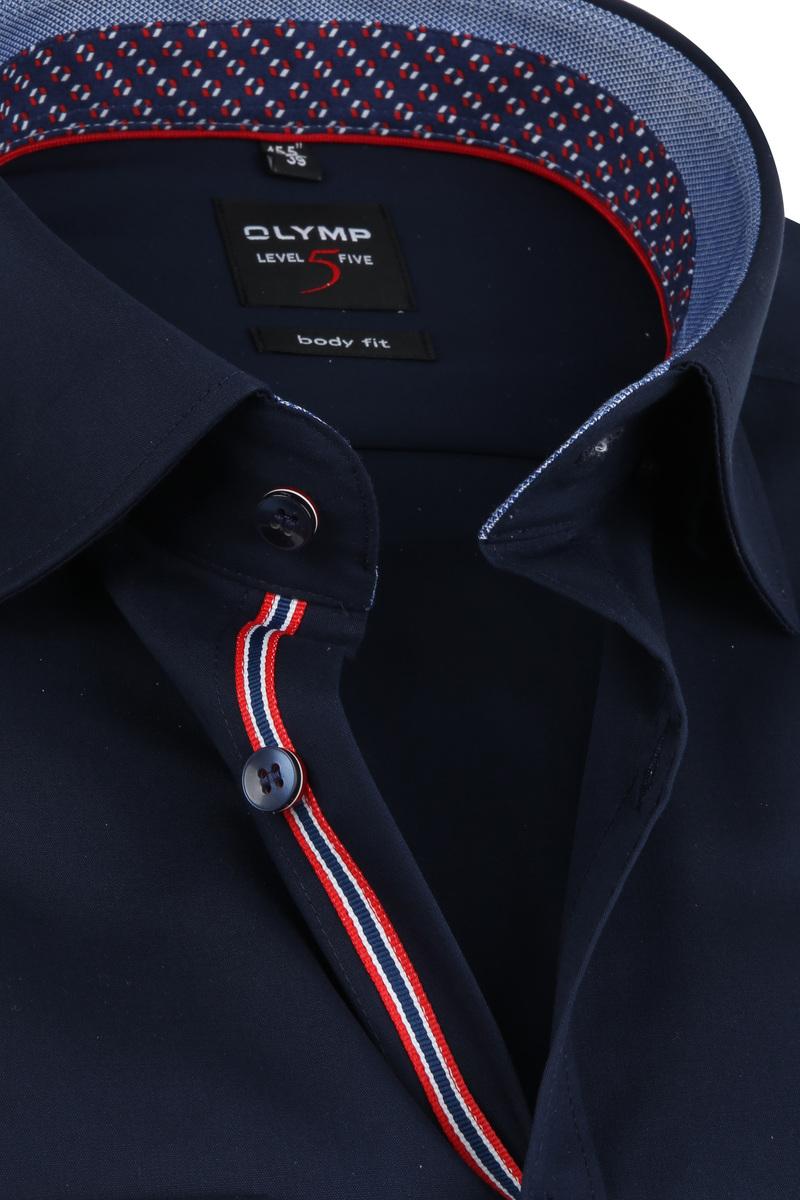 OLYMP Overhemd Lvl 5 LS7 Navy foto 1