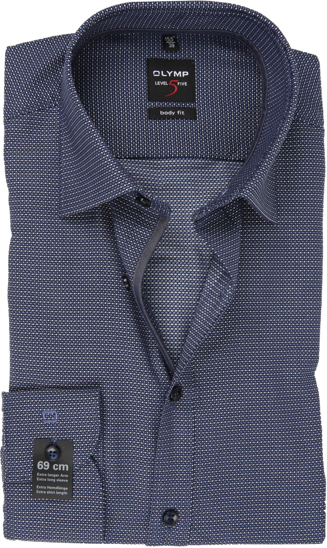 OLYMP Overhemd Lvl 5 Sleeve7 Donkerblauw foto 0