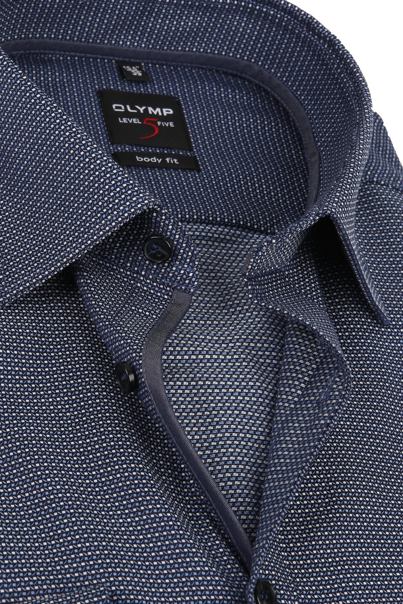 OLYMP Overhemd Lvl 5 Sleeve7 Donkerblauw foto 1