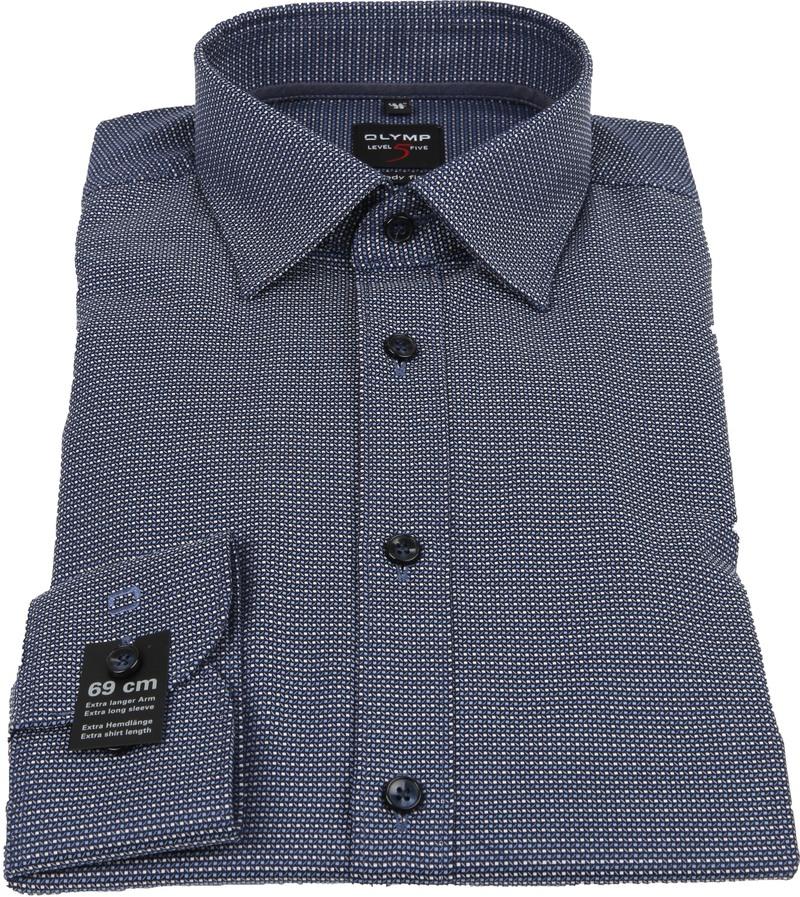 OLYMP Overhemd Lvl 5 Sleeve7 Donkerblauw foto 2