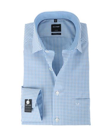 Olymp Overhemd Modern Fit Blauw Print SL7  online bestellen | Suitable