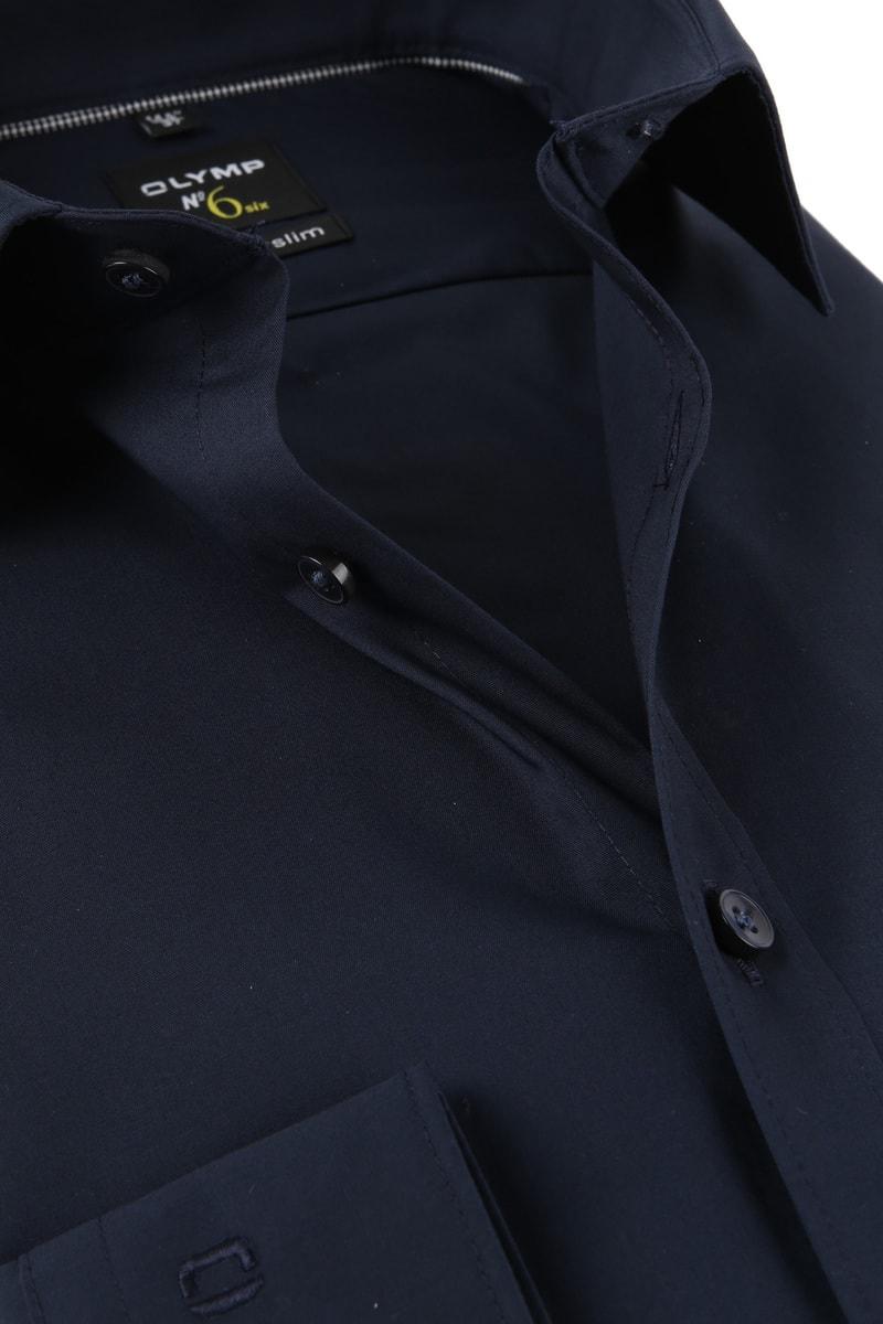 OLYMP Overhemd N0.6 Navy - Donkerblauw maat 40