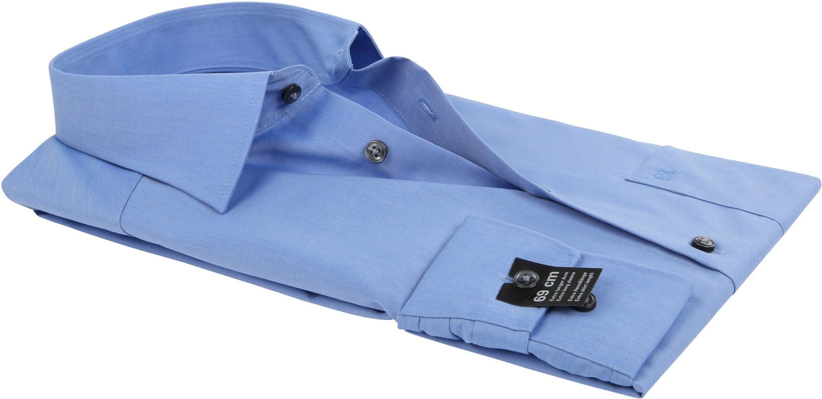 OLYMP Overhemd SL7 Blauw Chambray foto 3