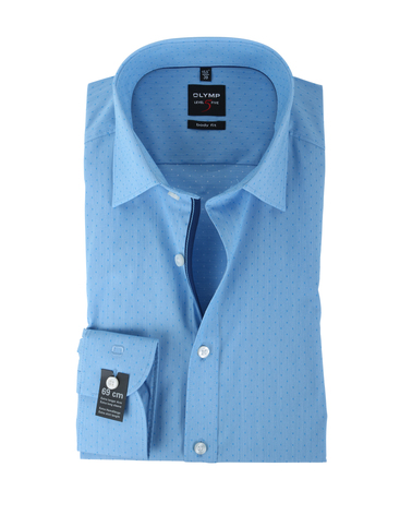 Olymp Shirt Body Fit Blauw PP SL7  online bestellen | Suitable