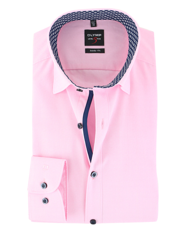 Olymp Shirt Level 5 Roze Body Fit  online bestellen | Suitable